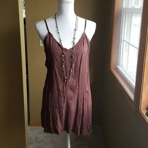 FREE PEOPLE Slip♦️Dress size small brown NWT